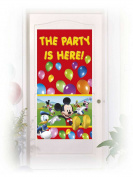Procos 84656 Door Decoration - Mickey Mouse Club House, 150 x 75 cm, Multi-Colour