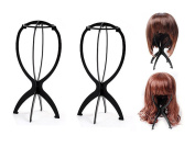 3 Pack - Wig Display Stand Mannequin Dummy Head Hat Cap Hair Holder Foldable