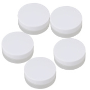 BQLZR 30g Empty White and Transparent Round Containers Cosmetic Jar Craft Travel Creams Plastic Bottles Pack of 5