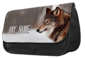 Personalised Wolf Pencil Case / Make up bag 173