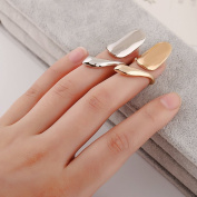 Belle Gold and Silver Popular Fashion Ladies Girls Finger Tip Nail Rings Nail Art Decoration in Birthday Christmas Shopping Travel Wedding Party Dancing