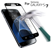 SAUS Samsung Galaxy S7 Tempered Glass screen protector, 3D Curved Full Coverage, SAUS 0.26mm Ultra Thin 9H Hardness No-Bubble Easy Instal Scratch Proof Military Grade Armour Guard Screen Cover