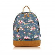 SALE Vintage Flowers 'Cath Kidston' Designer Style Canvas Backpack - JC 'Back to School' Collection