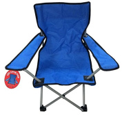 Kids Childrens Captain Foldable Folding Camping Chair - Blue And Black