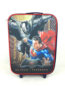 BATMAN V SUPERMAN JUNIOR JUSTICE LARGE WHEELED BAG HAND LUGGAGE CABIN SUITCASE