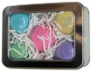 Set of 5 Luxurious Bath Bombs Gift Set w/ Kaolin Clay & Coconut Oil