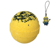 Minion Inspired Fizzing Bubble Bath Bomb with Surprise Minion Backpack Dangler Inside - Banana Scent - Stain Free - Kid Safe - Made in the USA - By Two Sisters Spa