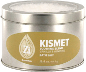 Kismet Feel Good Blend (Vanilla & Almond) Bath Salts. 470ml Windowed Tin - Zi Essentials