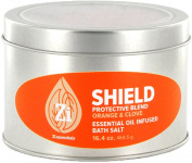Shield Protective Blend (Orange & Clove) Bath Salts. 470ml Windowed Tin - Zi Essentials