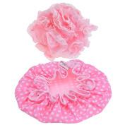 eBoot Waterproof Shower Cap and Bath Shower Sponge for women