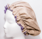 Shower Cap Made with Satin & Microfiber Waterproof / Water Repellent Fabric