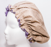 Shower Cap Made with Satin & Microfiber Waterproof / Water Repellent Fabric