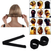 Hair Bun Updo Fold, Wrap & Snap Styling Tool For Girl Hair Style
