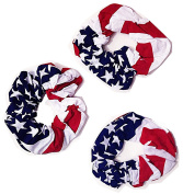 U.S Flag Stars and Strips Hair Twister Twisted Head Wrap Ponytail Holder