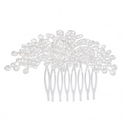 ROSENICE Bridal Hair Comb Clip Crystal Rhinestone Flower Hair Pin Side Comb