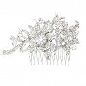 ROSENICE Bridal Hair Comb Clip Rhinestone Crystal Leaf Flower Bowknot Hair Pin