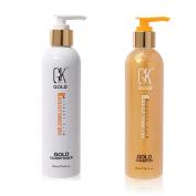 GKhair Gold Shampoo & Conditioner 8.5 Oz. / 250 ml