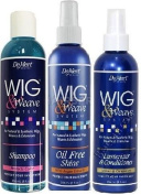 Demert Wig & Weave SYSTEM SET (Shampoo, Oil Free Shine,Lusterizer and Conditioner) Plus 1 Free pencil by Demert