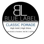 BLUE LABEL CLASSIC Pomade Premium Men's Best Hair Styling Product High Hold & Shine