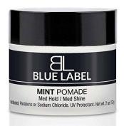 BLUE LABEL MINT Pomade Premium Best Men's Hair Styling Product Medium Hold & Medium Shine