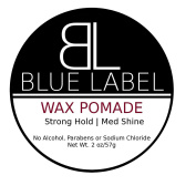 BLUE LABEL WAX Pomade Premium Men's Best Hair Styling Product Strong Hold & Low Shine
