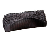 Icegrey Handmade Carved Swans Sandalwood Wooden Comb Anti-Hair Loss