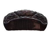 Icegrey Handmade Carved Lotus Sandalwood Wooden Comb Anti-Hair Loss