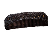 Icegrey Handmade Carved Dragan Black Sandalwood Wooden Comb Anti-Hair Loss