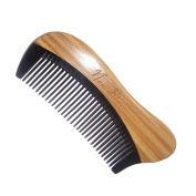 Pocket Comb,New star Handmade Premium Quality Wood Comb Black Buffalo Horn with Sandalwood
