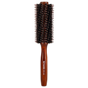 Mokale Natural Boar Bristle Round Comb Hair Brush with Ergonomic Natural Wood Handle,5.6cm ,Styling Essentials for Hair Drying, Styling, Curling