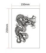Temporary Tattoo Large 3D Sexy Waterproof Removable Arm Fashion Body Sticker