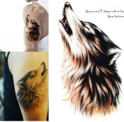 Temporary Tattoo Large 3D Sexy Waterproof Wolf Removable Arm Fashion Body Sticker