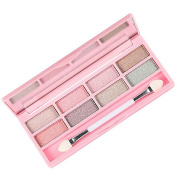 Lookatool By Nanda 8 Colours Pro Eyeshadow Shimmer Mate Palette Cosmetic Brush Mirror Makeup Set