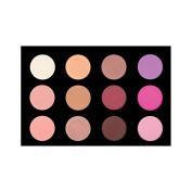 Crown Brush 12 Colour Blush/Highlighting Palette - BLS02