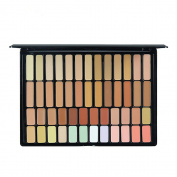 PhantomSky 50 Colour Cream Concealer Camouflage Makeup Palette Contouring Kit - Perfect for Professional and Daily Use
