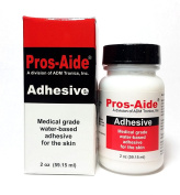 "Pros-Aide ""The Original"" Adhesive 60ml By ADM Tronics - Professional Medical Grade Adhesive. Dries Clear. Latex-Free! Hypoallergenic. Special Effects Makeup. Works on foam latex and proshetics."