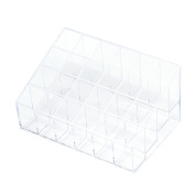 WensLTD 1PC Crazycity Generic 24 Stand Trapezoid Clear Lipstick Holder Makeup Cosmetic Organiser