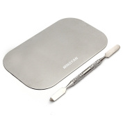 Mingyan Lady Stainless Steel Cosmetic Makeup Palette With Spatula
