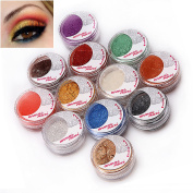 Baisidai Mineral Loose Pearl Eye Shadow, Set of 12