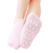 Soften Spa Gel Socks for Cracked Skin Moisturising feet care Pinkiou Exfoliating Dry Heel Booties pedicure