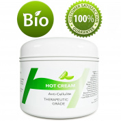 Anti-Cellulite Cream Fat Burning Hot Cream to Lose Weight - Slimming Cream for Belly Arms Legs & Butt - Skin Tightening Cream for Men and Women With 100% Natural Essential Oils Lavender and Rosemary