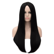 Kalyss Women's Wig Long Straight Imported Synthetic Cosplay Costume Hair Wig