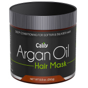Calily Premium Natural Argan Oil Hair Mask, 260ml - Deep Conditioner - Repairs Damaged Hair, Hydrates, Softens, Strengthens, Shines and Nourishes - Promotes Healing and Natural Hair Growth