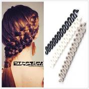 2PC Random Colour Wonder French Magic Hair Clip Braider Braid Stylist Queue Twist Plait Hair Braiding Tool Holder Roller DIY Bun Maker Hairstyle Styling Accessory Fashion Salon