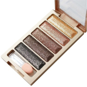 Canserin New 5 Colour Glitter Eyeshadow Makeup Eye Shadow Palette