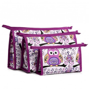Hatop 3pcs Cosmetic Toiletry Travel Wash Makeup Bag Holder Pouch Kits Set