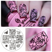 Born Pretty Nail Art Stamping Template Image Plate Rose Flower BP73