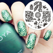 Born Pretty Nail Art Stamp Template Image Plate Leaves Theme BP19