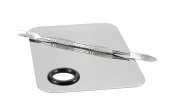 BeeChamp Professional Stainless Steel Cosmetic Makeup Palette Spatula Tool, Chrome