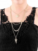 Aukmla 3 Tiers Pendant Necklaces for Women and Girls